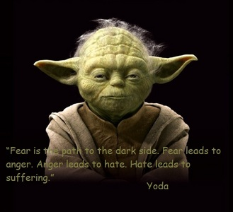 Be mindful of the force, young Padawan... through suffering shall the path of the dark side open to you.
