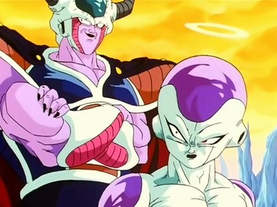 How about vegeta and his father from dragon ball Z.