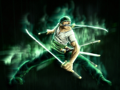 Zoro from One Piece! He has three swords. XD