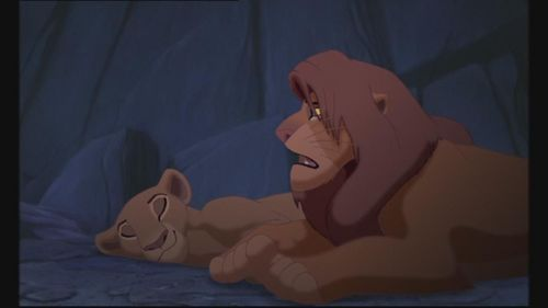 Yes, He was looking at Nala for a sec then he went back to sleep.