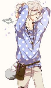 Louis from brothers conflict, he is such a sweetheart with a very soothing voice ^^.