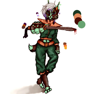 Tiber,The Bob cat warrior: -shes 21 -is a general of a army -she is a funny and easy going girl -she flirts alot -she goes take charge when she knows she needs to be -she can be too doubtful of her own ideas especial when people are involved -she is pansexual -best skill is to use swords,speed and she can make her self blend into the shadow for a short period of time