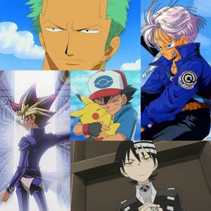 Yu-Gi-Oh!: Yami Soul Eater: Death The Kid Dragon Ball: Trunks One Piece: Zoro Pokemon: Ash