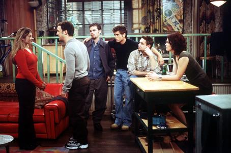 Cory Matthews, Shawn Hunter, Eric Matthews. Jack Hunter, Topanga Lawrence the entire Boy Meets World cast <3
