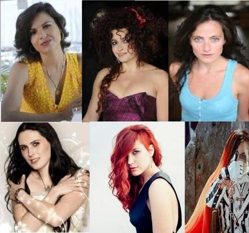 Lana Parrilla, Helena Bonham Carter, Lara Pulver, Sharon 巢穴, den, 书房 Adel, 夏洛特 Wessels, and G-Dragon.