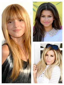 I have many, but here's a few: Ashley Tisdale, Bella Thorne, and Zendaya Coleman.