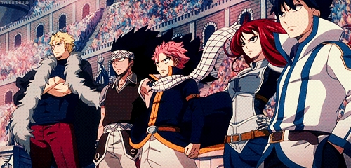 Fairy Tail its a cool animê completely based on Magic.........he he heh