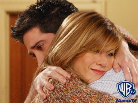 Jennifer as Rachel Green on Friends with David Schwimmer as Ross Geller :)