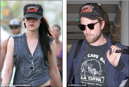 I think it's sweet and cute seeing Kristen wearing Rob's hat<<3