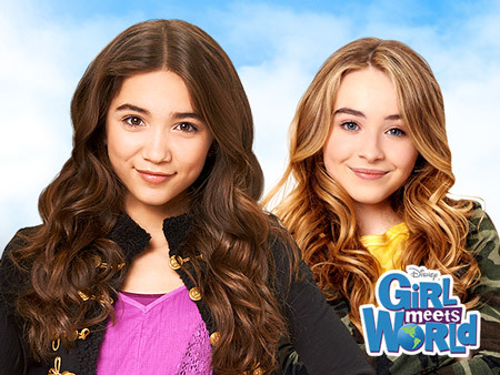 2Girl Meets World stars, Rowan Blanchard is 12 going on 13 in October 14 and Sabrina Carpenter is 15. :)