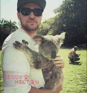 Justin and a koala<3