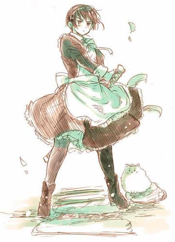I would want Kiku Honda to be my maid <3