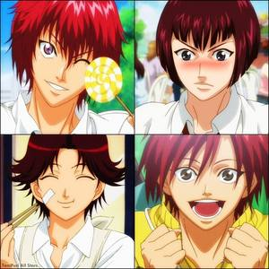 Here are the main 4 red-haired males in Prince of Tennis... :3