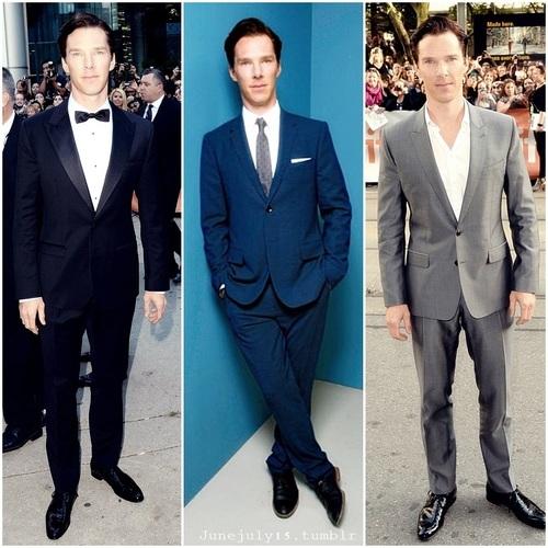 Benedict in a suit(x3)<3