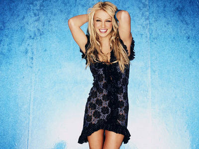Britney Spears in black and blue