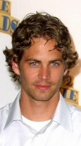 the late,but still handsome,Paul Walker with curly hair<3