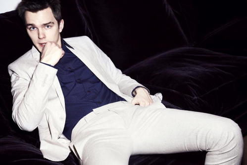 Nicholas Hoult in white<3