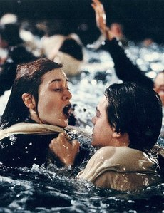 Kate Winslet in Titanic which is based on a true story. although Rose hoặc Jack are not historical characters.
