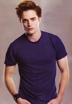 Robert vamping it up in a dark blue shirt<3
