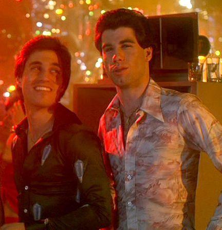 John and Joey wearing tight shirts :)