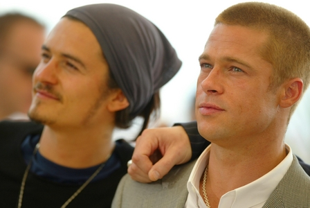 Orlando and Brad.They are both high 个人资料 actors,but Brad has been 表演 longer than Orlando<3