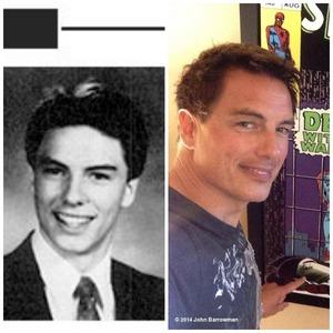 John in High School and John a few days lalu :)
