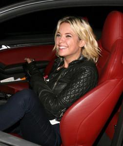 Ashley Benson in her car