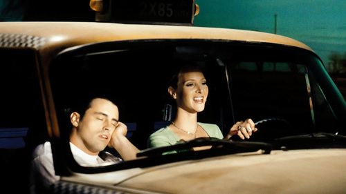 Lisa Kudrow in a cab :)