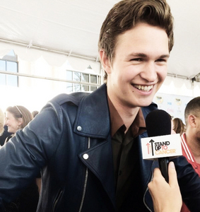 Ansel being interviewed at the TCA 2014<3