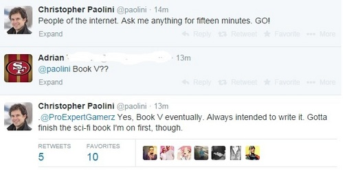 I think the most precise answer comes from Paolini himself :)