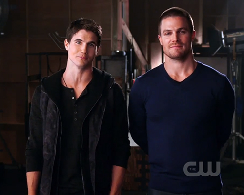 Robbie Amell and Stephen Amell - cousins<3