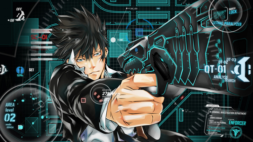 i watched psycho-pass -22 episodes- in one hari . //