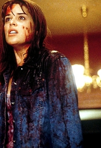 Neve Cambell in Scream with blood on her :)