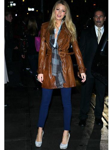 Blake wearing a brown jacket!