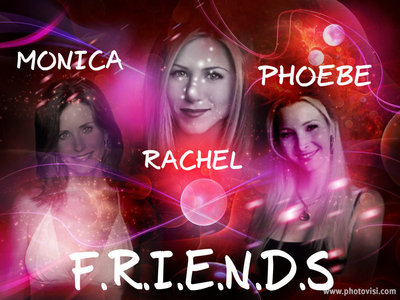 3 actresses, Courteney Cox, Jennifer Aniston and Lisa Kudrow in Friends (I made this a while ago)