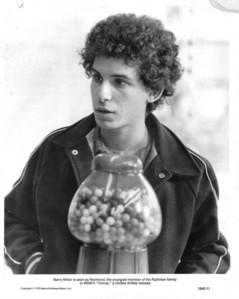 Barry Miller looking adorable with a gumball machine :)