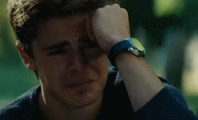 Zac crying...awww,poor baby:(