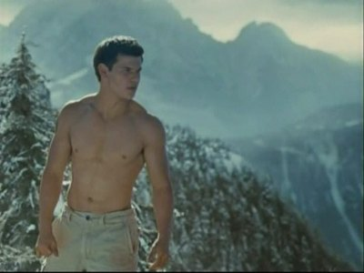 a shirtless Taylor in the cold mountains of Vancouver<3