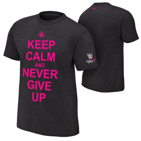 My brother in-law's breast cancer slogan for WWE's courage, conquer, cure campaign