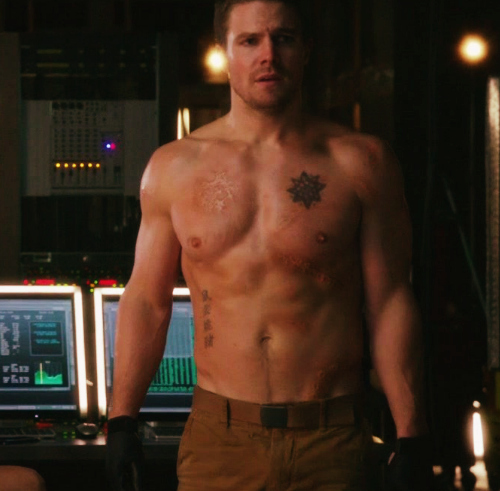 Stephen Amell as Oliver Queen on Arrow!