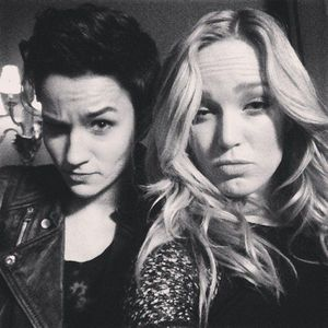 Bex Taylor-Klaus and Caity Lotz<33