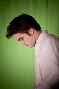 my gorgeous Robert with a green background<3
