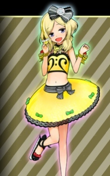 Pretty Rhythm pelangi, rainbow Live. The club has 30 something members but most of them are inactive. ;n; It's a really good Anime that I think everyone should watch. This is a picture of Otoha Takanashi.