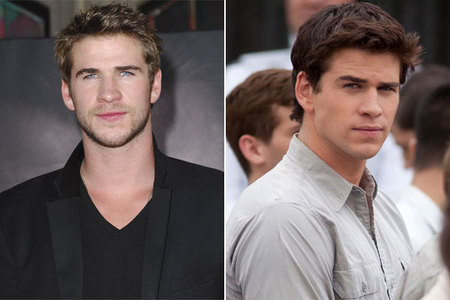 Liam Hemsworth with dyed hair<3