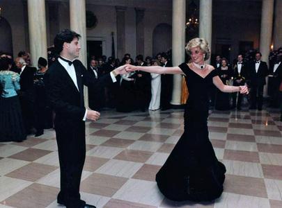 John Travolta dancing with the late Princess Diana