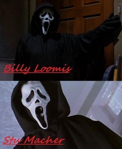 Both Skeet Ulrich and Matthew Lillard wearing Scream masks :)