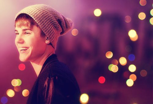 Bieber with lights<3