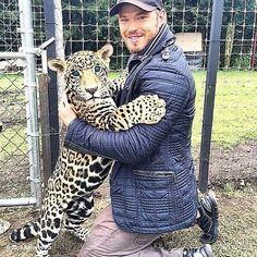 Kellan and a leopard<3