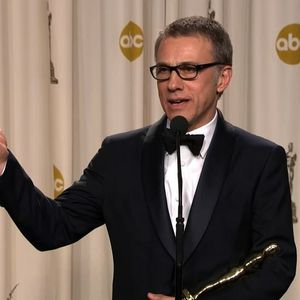 Christoph talking after winning his Oscar<3