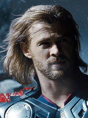 Chris,as Thor,with wind in his hair<3